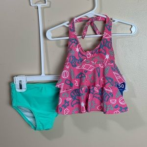 Girl's 18 month Swimsuit Tankini top & bottoms
